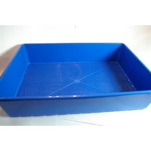 Plastique bleu rectangle 510x360x105